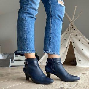 Cole Haan Sylvian Blue Booties size 8